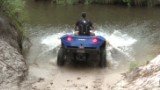 Amphibian Quadski goes on land and water