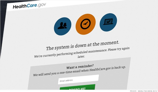 Obamacare website down – and back up