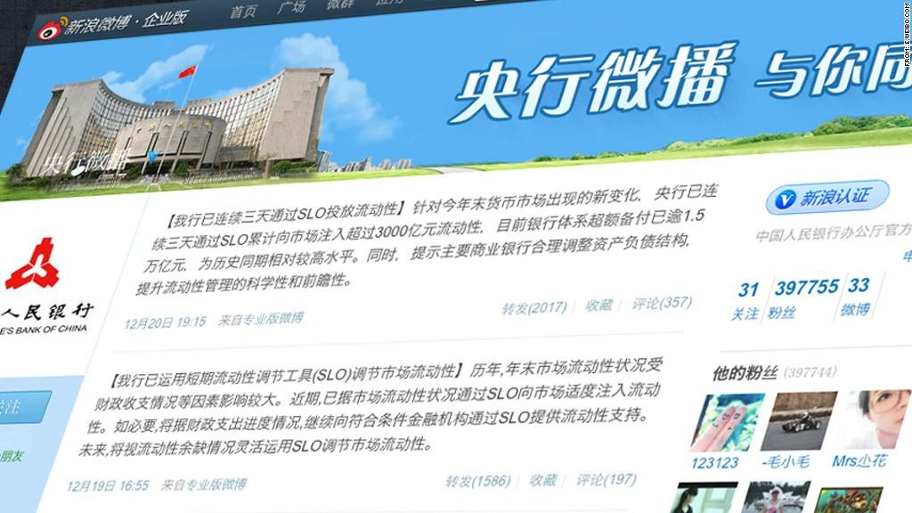 china central bank weibo