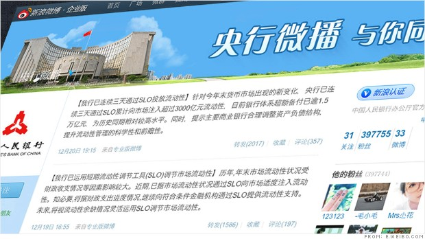 china central bank weibo