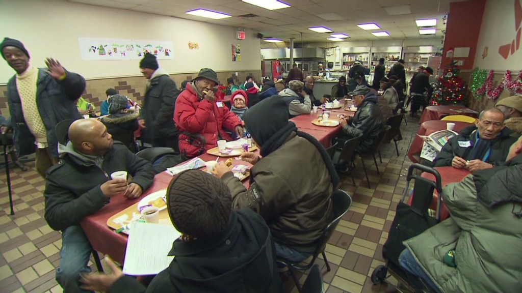 Longer lines at New York food banks