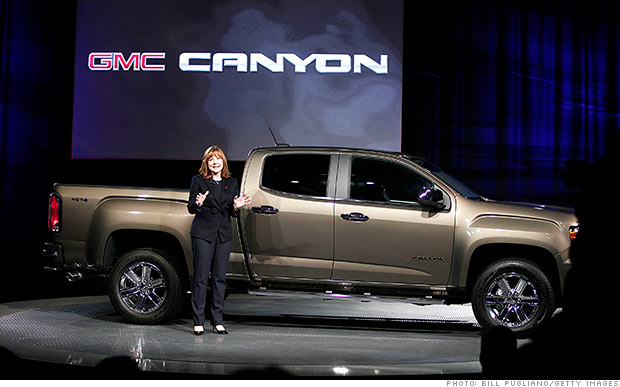 mary barra gmc canyon