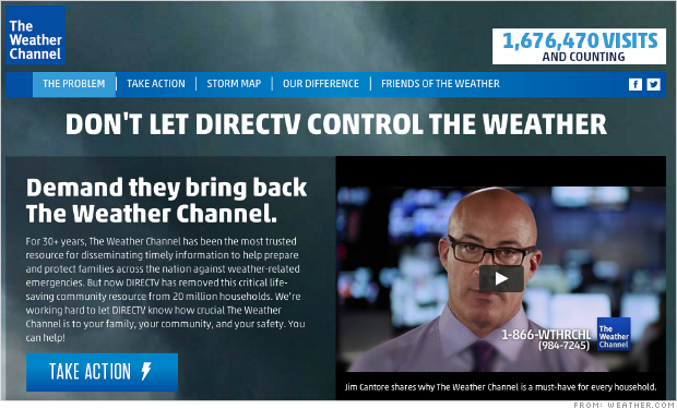 weather channel direct tv
