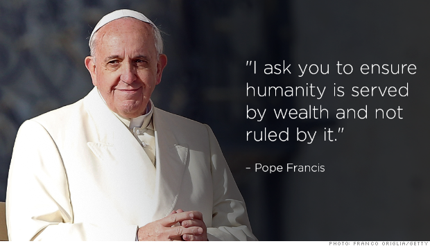 pope money quote