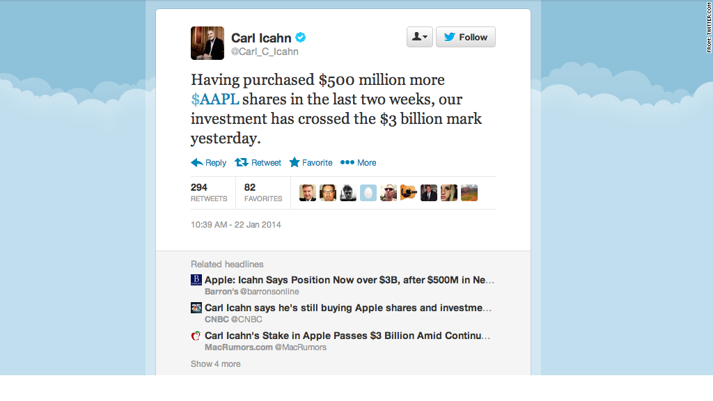 carl icahn apple