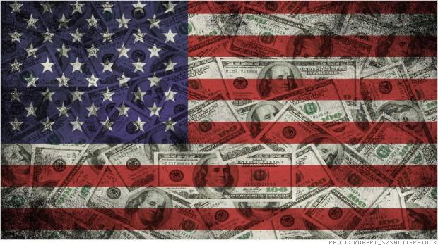 inequality corroding democracy flag