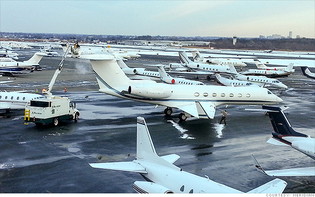 meridian private jet traffic