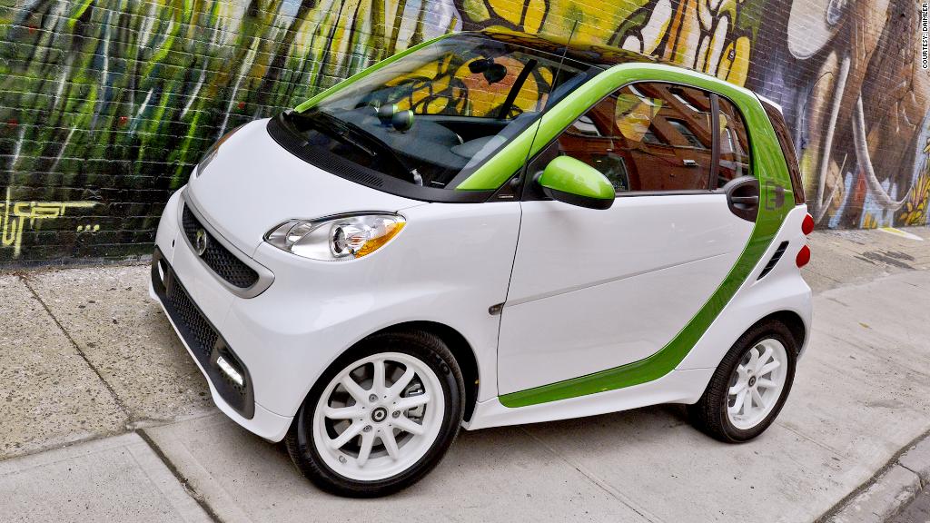 greenest cars daimler smart ev