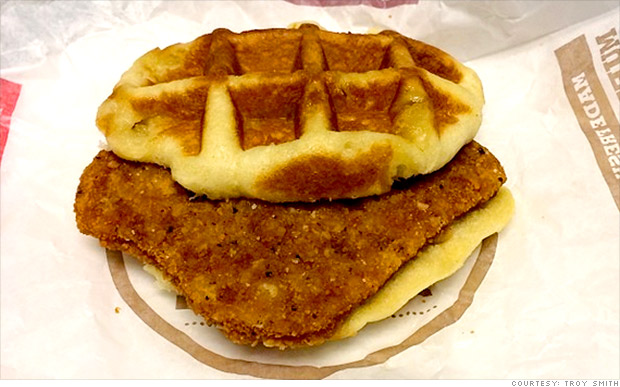 chicken waffle burger king