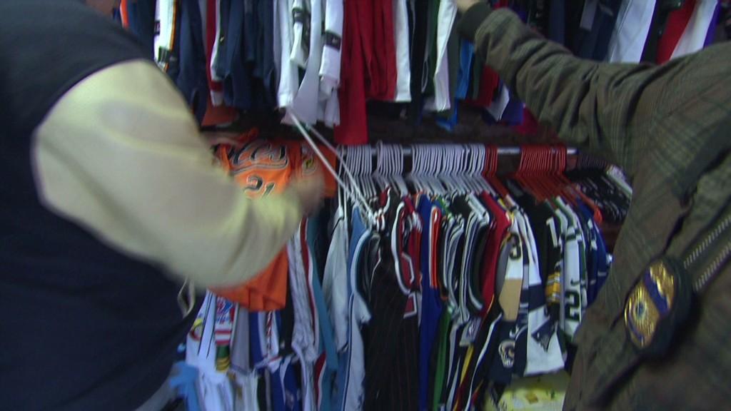 Knockoff Super Bowl gear crackdown
