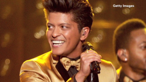 Bruno Mars' big bucks