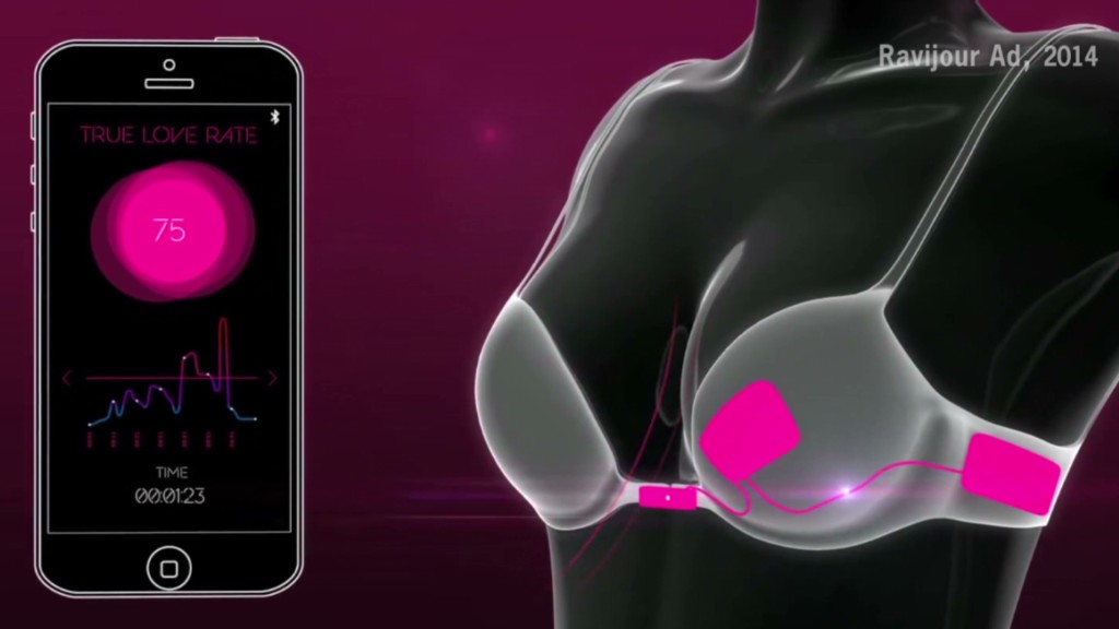 High-tech bra unhooks when you find love