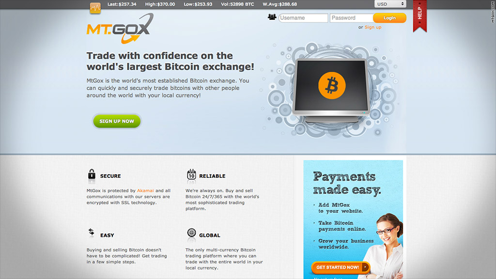 mt gox website