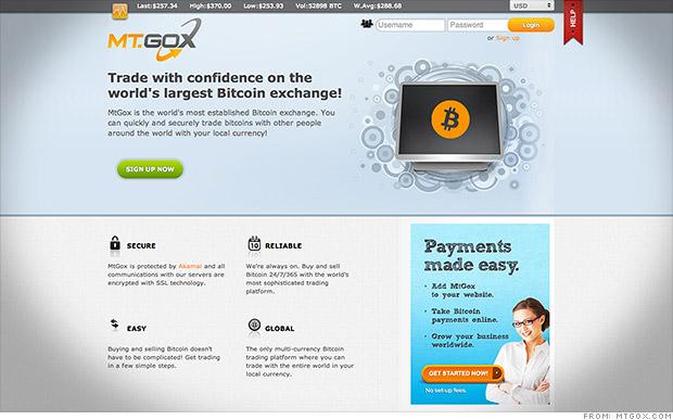 mt gox website