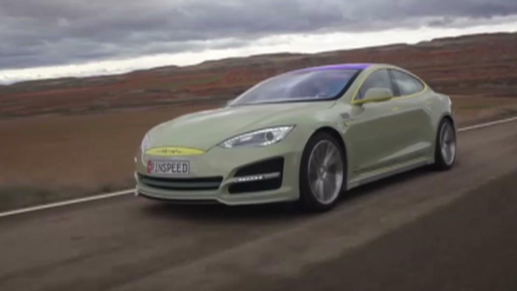 A self-driving Tesla from Swiss futurists