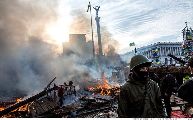 kiev protests fires