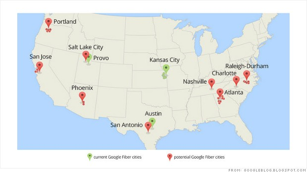 google fiber cities