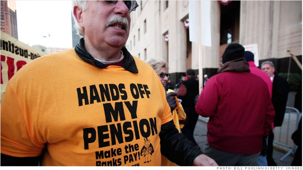 detroit pension protest