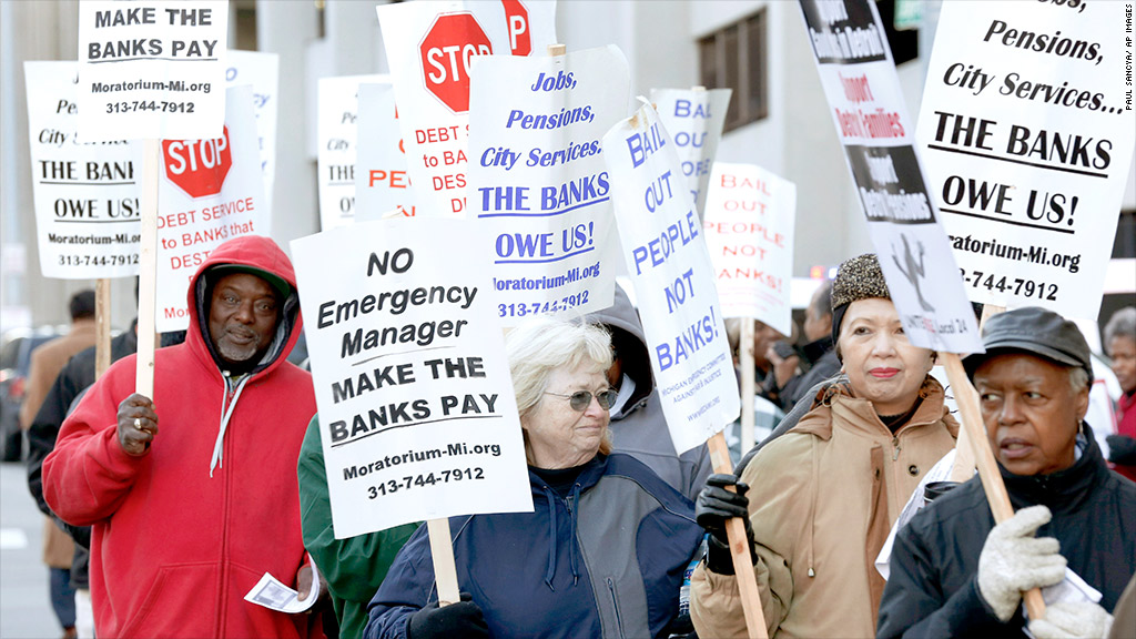 detroit retirees protest