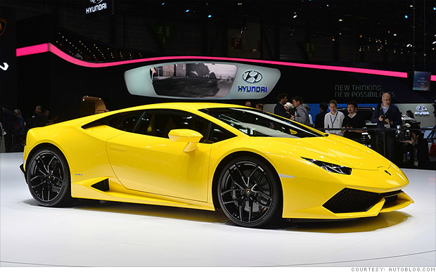 lamborghini hurac n hot cars from the geneva motor show cnnmoney. Black Bedroom Furniture Sets. Home Design Ideas