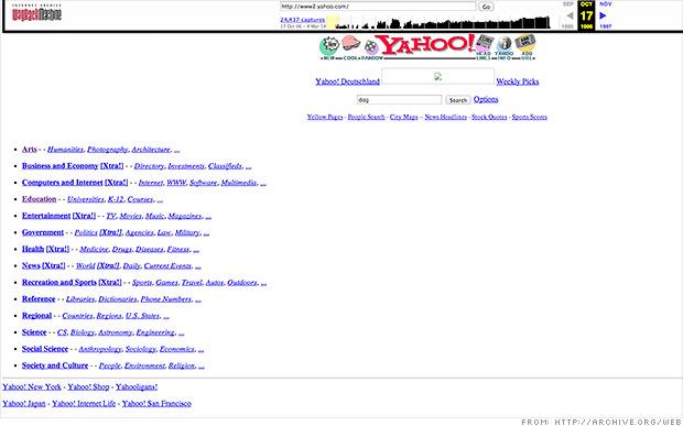 web anniversary yahoo