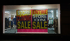 Everything must go: Store closings rise