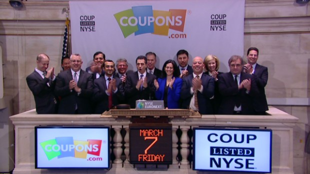 Coupons.com nearly doubles in IPO