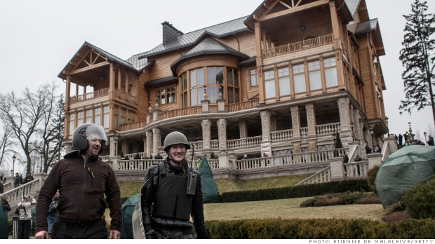 Inside Yanukovych's opulent private mansion