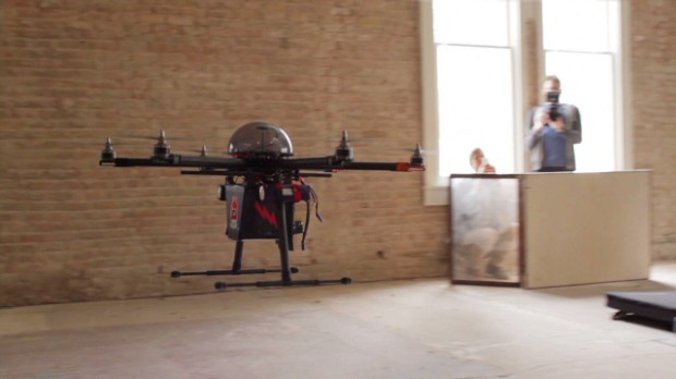 Watch this drone stun a man