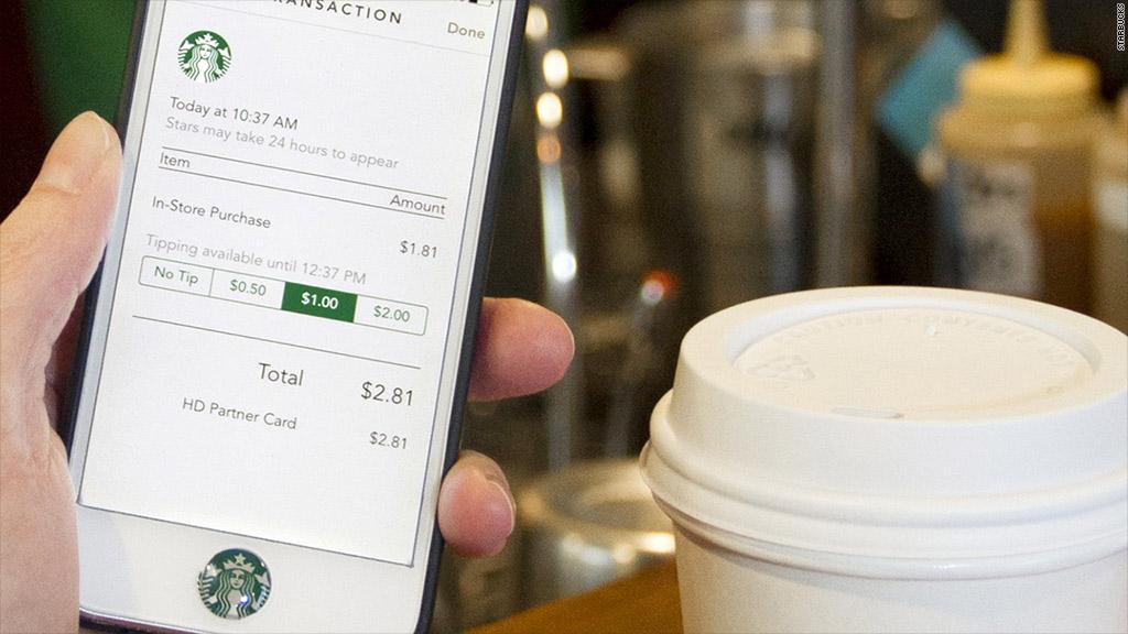 starbucks tip app