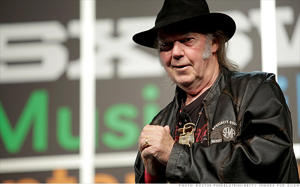 Neil Young's music startup raises $1 million
