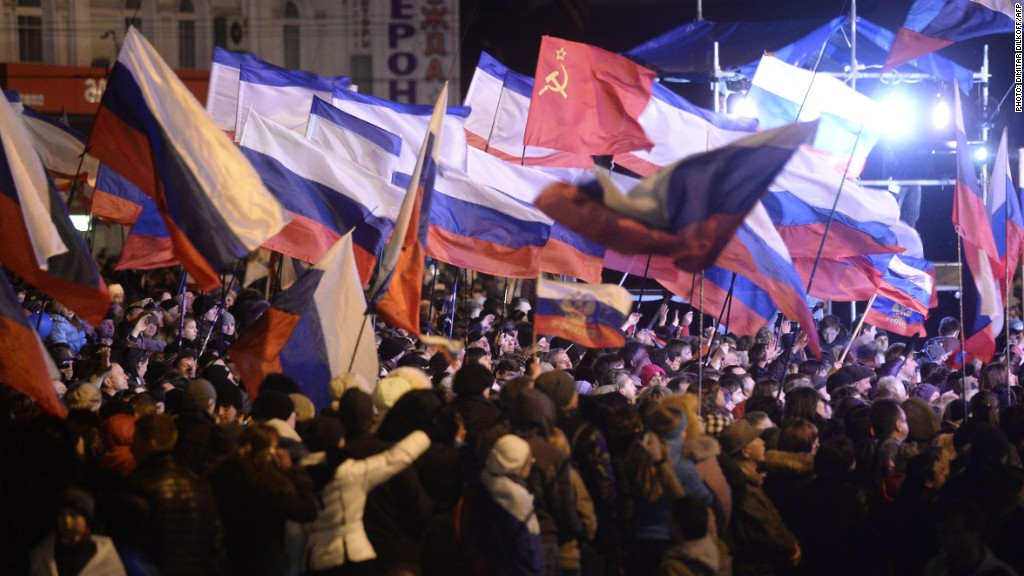 crimea russian flags