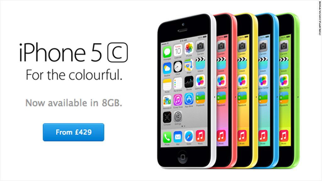 Apple introduces 8 GB iPhone 5C