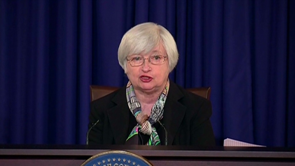 Yellen's first Fed presser in 90 seconds