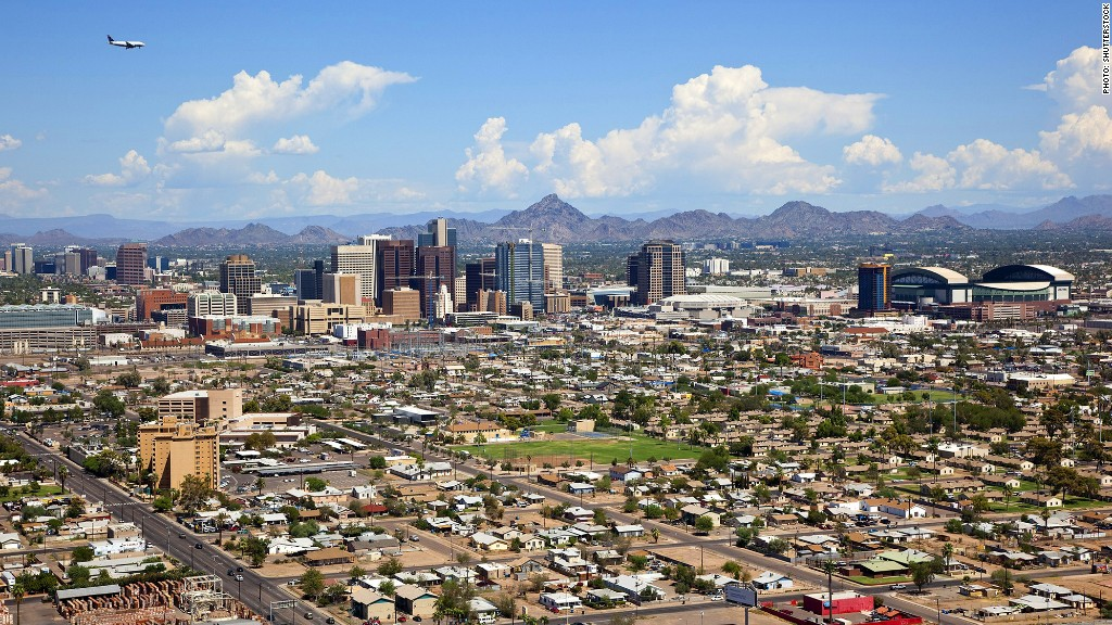 fastest growing metro areas phoenix