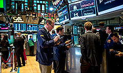 What storm? Stock market stays open