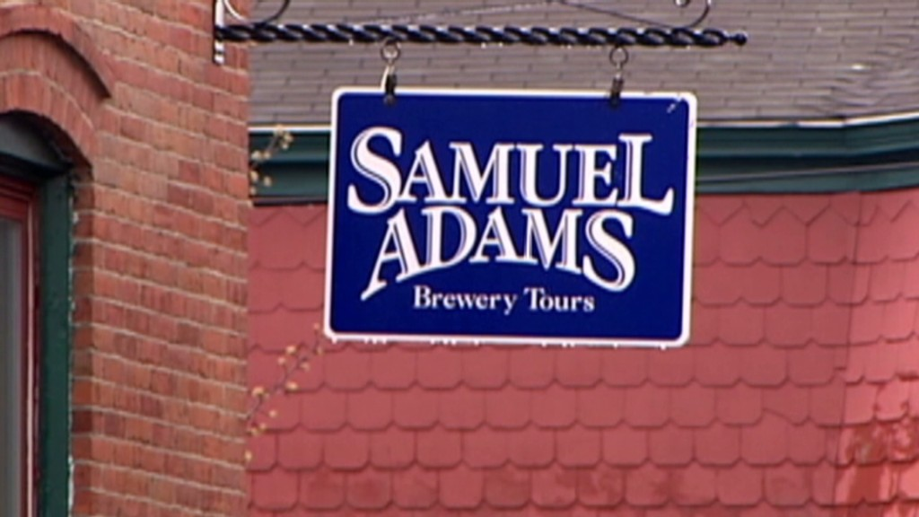 Sam Adams' small business push