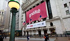 GrubHub IPO delivers: Up 31%