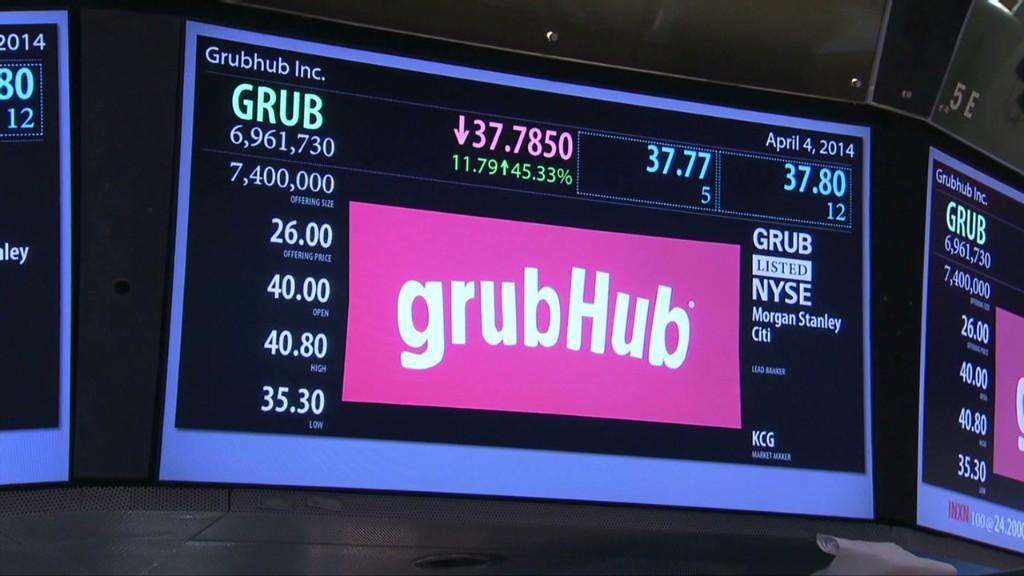 GrubHub CEO talks about its tasty IPO