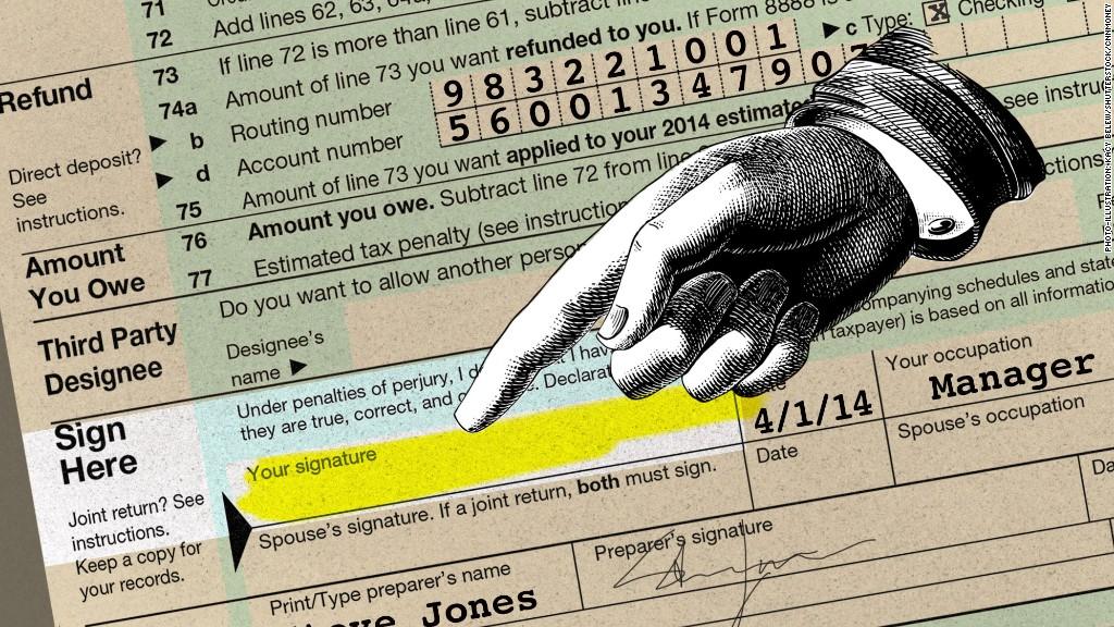 tax mistakes signature
