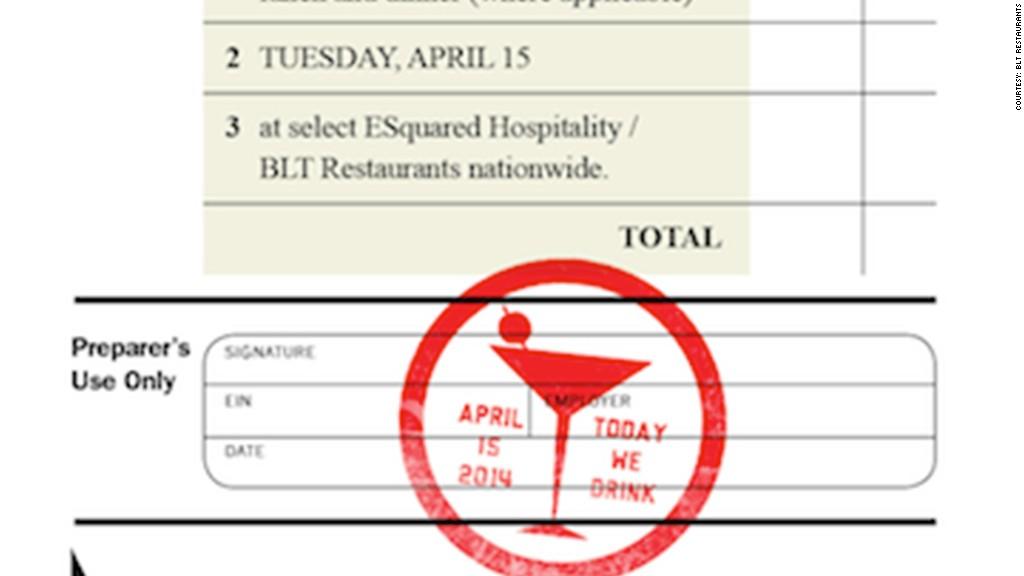 tax day deals blt restaurants