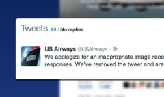 US Airways says lewd tweet was a mistake