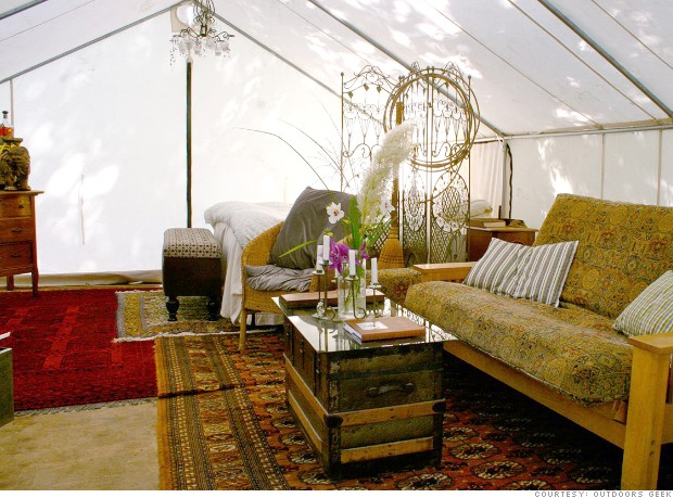 On The Set Of 90210 Glamping In Style Beds Couches
