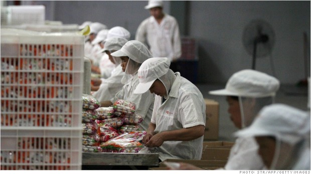 China factories extend slump