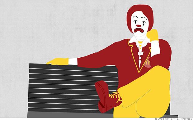 sad ronald mcdonald 2