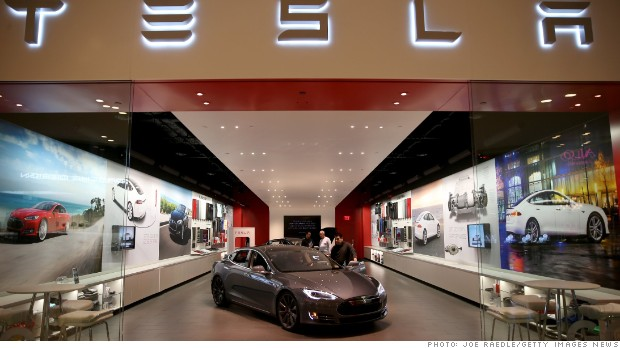 tesla vehicle showroom