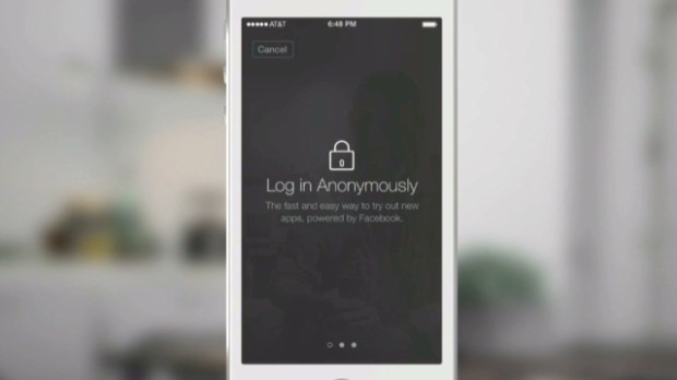 See Facebook's new anonymous login
