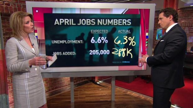 A big improvement in hiring in April
