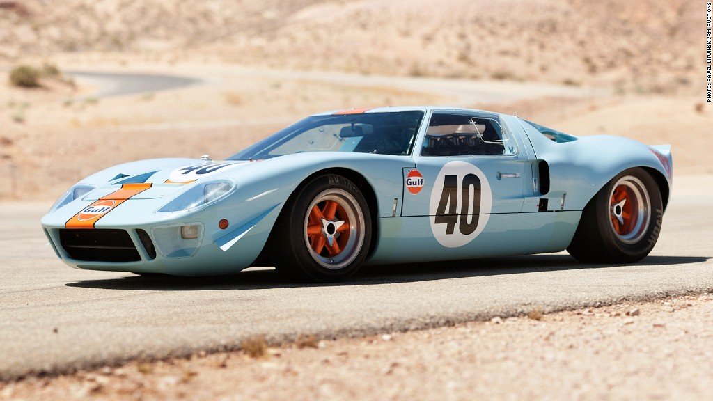 1968 Ford GT40 Gulf/Mirage Coupe - Most expensive cars ever sold at ...