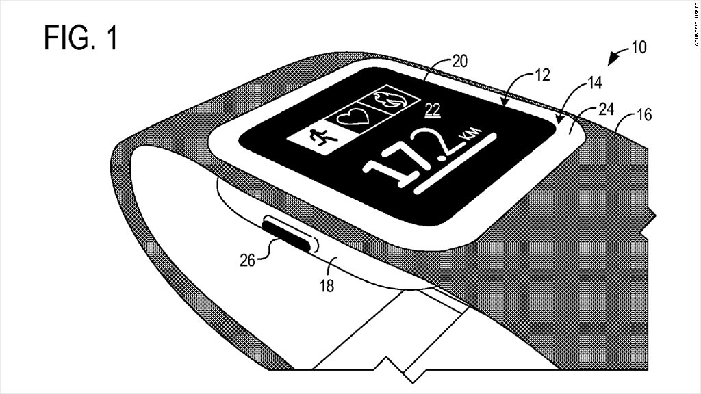 Microsoft files for smartwatch patent